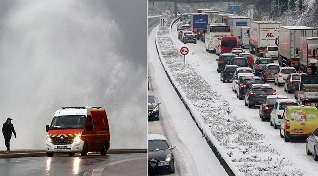 Στο έλεος του χιονιά η δυτική Ευρώπη: Χάος στα αεροδρόμια