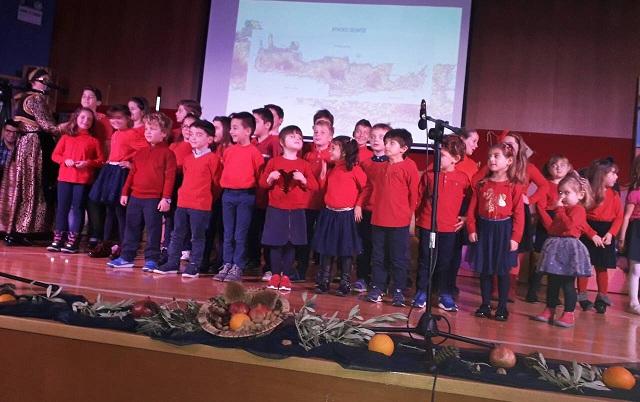 Τα παιδιά των Κατηχητικών ύμνησαν τα Χριστούγεννα