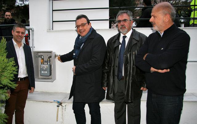 Εγκαινιάστηκε η επέκταση του δικτύου διανομής φυσικού αερίου στο Πλαγιάρι και τον Τρίλοφο Θέρμης