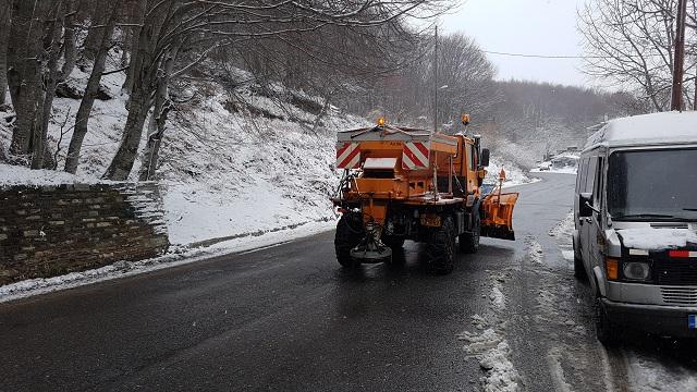 Στα 50 εκ. το χιόνι στις Αγριόλευκες. Ανοικτοί οι δρόμοι στο Πήλιο