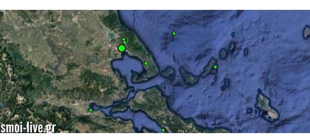 Με τέσσερις σεισμικές δονήσεις ξύπνησε ο Βόλος