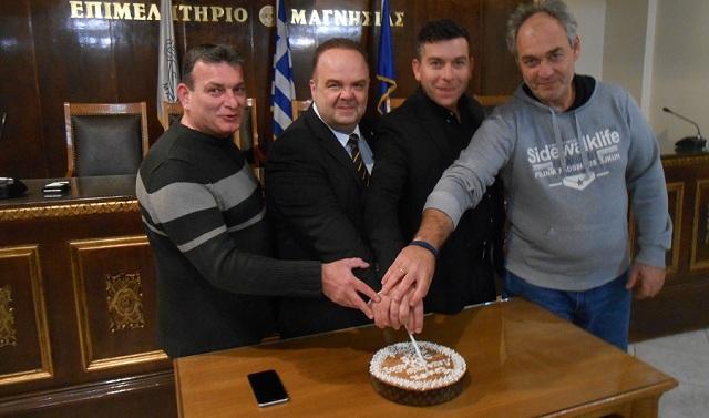 Η Ένωση Λειτουργών Γραφείων Κηδειών έκοψε την Πρωτοχρονιάτικη πίτα