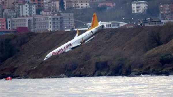 Τουρκία: Αεροπλάνο έφυγε από τον διάδρομο και παραλίγο να πέσει στη θάλασσα