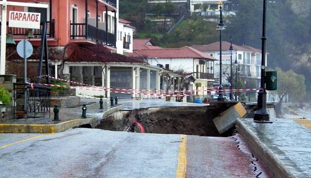 Κλιμάκιο του Υπ. Υποδομών στη Μαγνησία για καταγραφή ζημιών