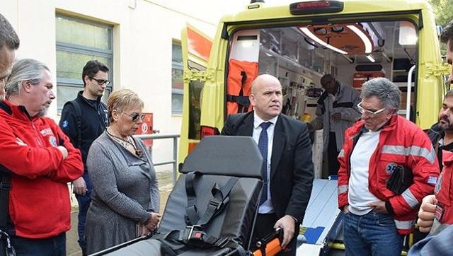 Δύο νέα ασθενοφόρα δωρίθηκαν στο ΕΚΑΒ Θεσσαλίας