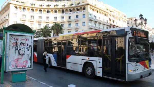 Λεωφορείο στη Θεσσαλονίκη έμεινε εγκλωβισμένο για 10 ώρες