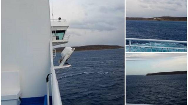 «Έμεινε» ανοιχτά της Λήμνου το «Νήσος Χίος». Άνεμοι έως και 10 μποφόρ