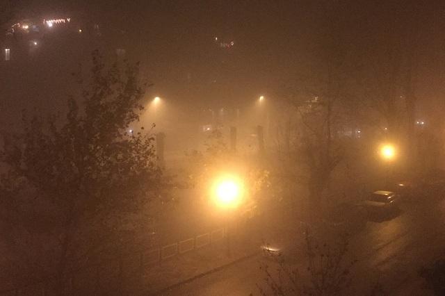 Πέπλο αιθαλομίχλης «σκέπασε» τον Βόλο