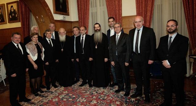 Επίσημο δείπνο στους Περιφερειάρχες παρέθεσε ο Αρχιεπίσκοπος