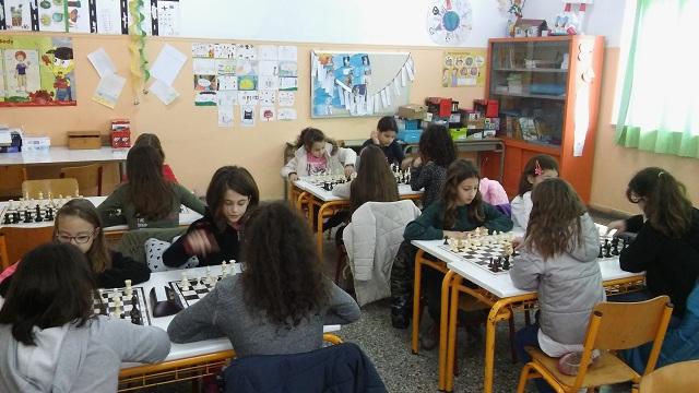 86 μαθητές έπαιξαν σκάκι