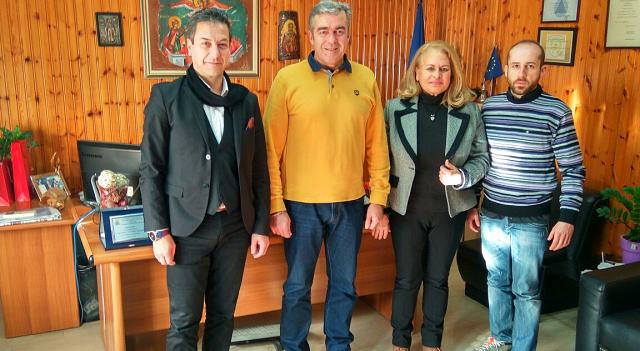 Ο Εμπορικός Σύλλογος Λάρισας στον Διοικητή Πυροσβεστικής Θεσσαλίας