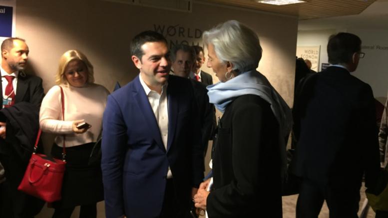 Μεταρρυθμίσεις και ελάφρυνση χρέους συζήτησαν Τσίπρας-Λαγκάρντ στο Νταβός