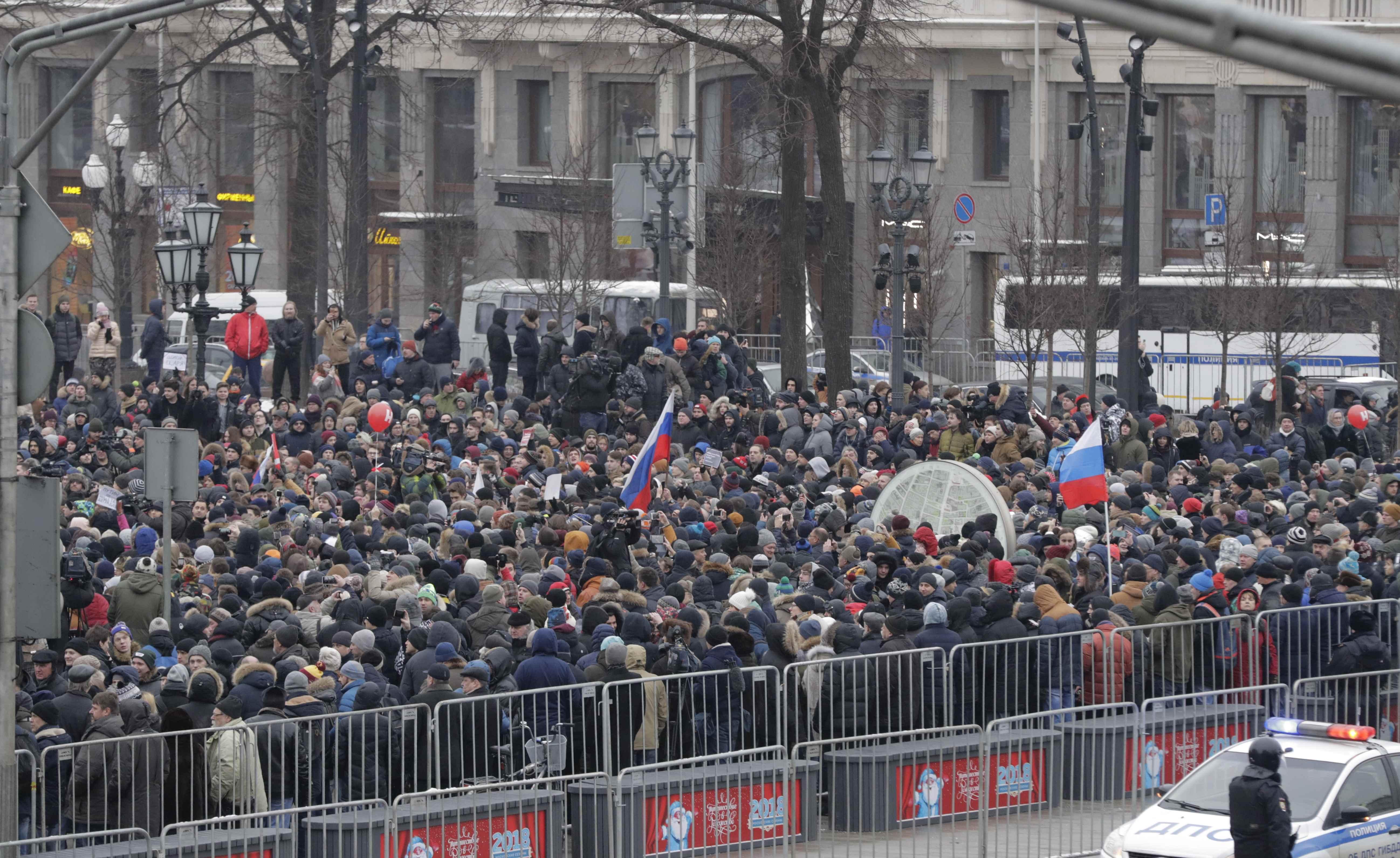 Ρωσία: Συνελήφθη ο Ναβάλνι σε διαδήλωση κατά του Πούτιν