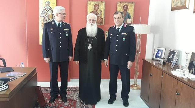Επίσκεψη του Υποστρατήγου Ιωάννου Τόλια και του νέου Αστυνομικού Διευθυντή στον Μητροπολίτη