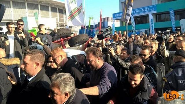 Ένταση μεταξύ αγροτών και αστυνομικών στην Agrotica