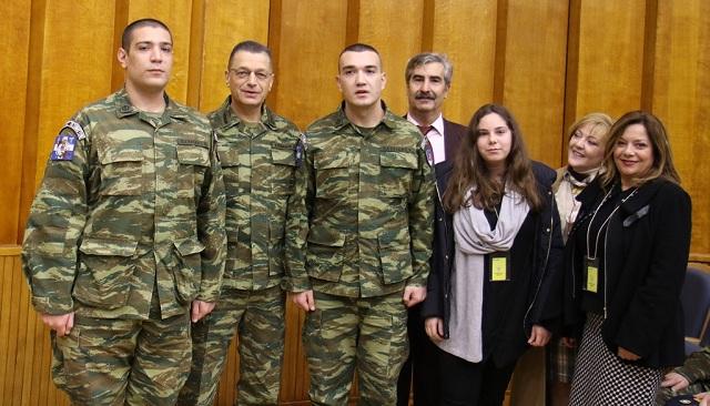 Βραβεύτηκαν δύο στρατιώτες της 32ης Ταξιαρχίας Πεζοναυτών