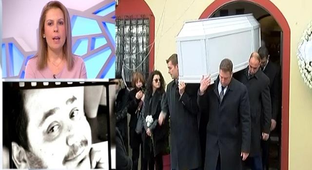 Θλίψη στην κηδεία του ηθοποιού Βαγγέλη Ρωμνιού, που έσβησε στα 36 χρόνια του