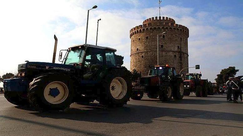 Στο κέντρο της Θεσσαλονίκης βγαίνουν σήμερα τα τρακτέρ
