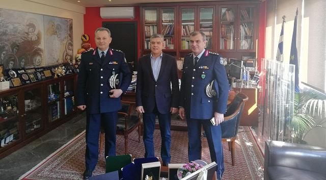 Εθιμοτυπικές επισκέψεις των Γενικού Περιφερειακού Αστυνομικού Διευθυντή Θεσσαλίας και Διευθυντή Αστυνομίας Λάρισας