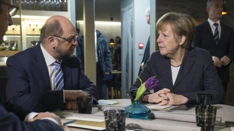 Γερμανία: «Έκλεισε» το deal Μέρκελ- Σουλτς, στο SPD το ΥΠΟΙΚ