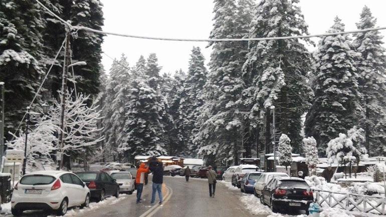 Έως και μισό μέτρο το χιόνι στα ορεινά του νομού Τρικάλων