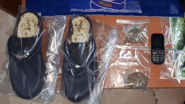 Έκρυψε τα ναρκωτικά μέσα στις ...παντόφλες της φυλακής