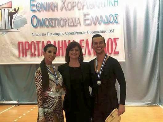 Δεύτεροι στο πανελλήνιο πρωτάθλημα αθλητικού Latin Φάτσης - Μαντάνη