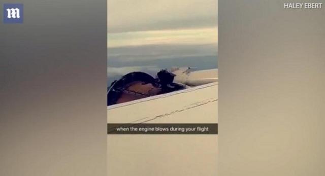 Τρόμος στον αέρα: Έβλεπαν να ξηλώνονται τμήματα του κινητήρα [βίντεο]