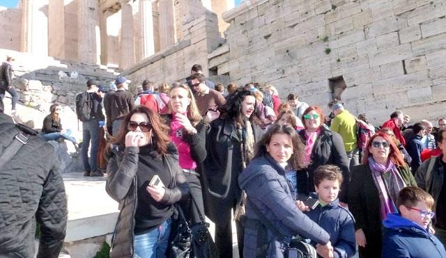 Επίσκεψη δημοσιογράφων- μελών της ΕΣΗΕΘΣΤΕ-Ε στο Μουσείο και Ιερό Βράχο Ακρόπολης