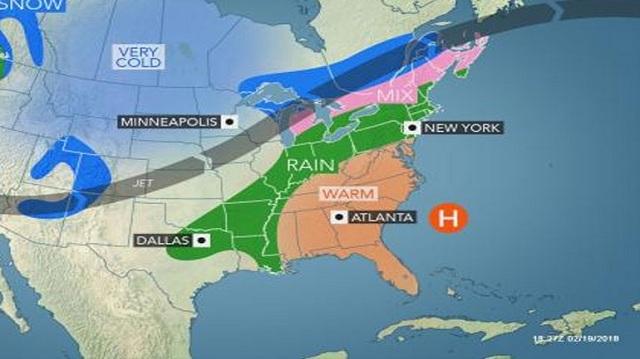 Τσουχτερό κρύο και παράλληλα αφόρητη ζέστη στις ΗΠΑ