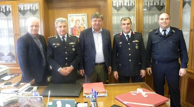 Εθιμοτυπικές επισκέψεις του Γενικού Περιφερειακού Αστυνομικού Διευθυντή Θεσσαλίας στα Τρίκαλα