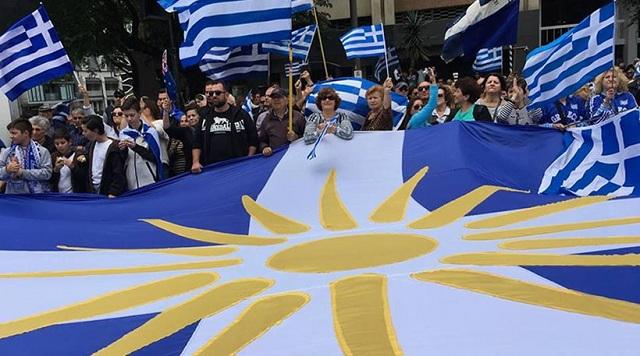 «Ελλάς-Ελλάς Μακεδονία» φώναξαν χιλιάδες Έλληνες της Αυστραλίας στη Μελβούρνη [εικόνες]