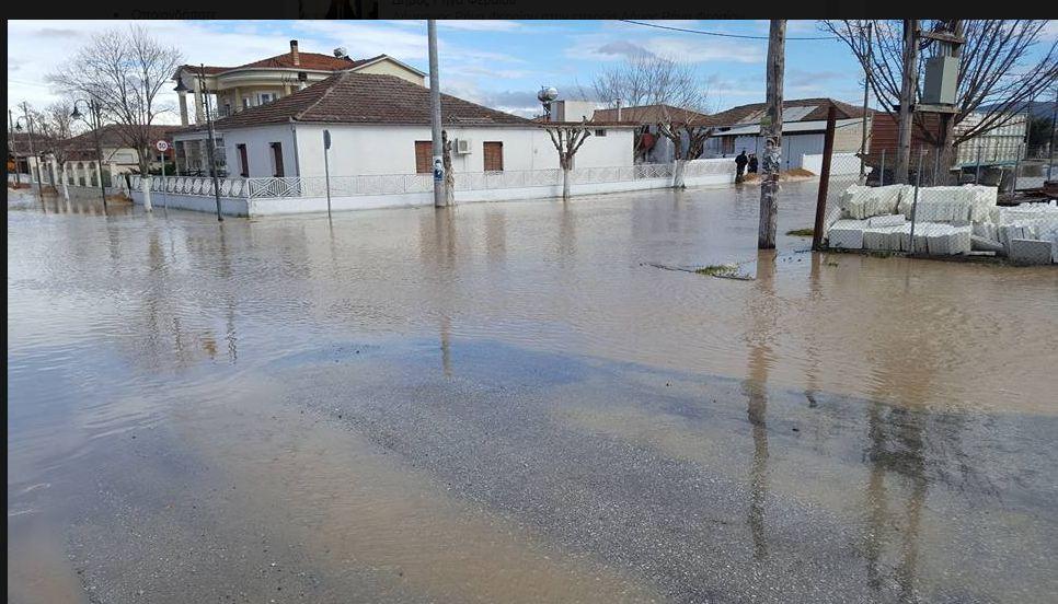 «Πλημμυρίδα» προβλημάτων στο Στεφανοβίκειο από τη βροχή
