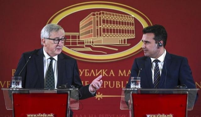 Πρόκληση Γιούνκερ: Οι «Μακεδόνες» σημειώνουν πρόοδο. Γραφειοκρατική ορολογία η ΠΓΔΜ