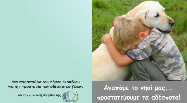 Καμπάνια ευαισθητοποίησης για τη φροντίδα αδέσποτων στην Σκόπελο