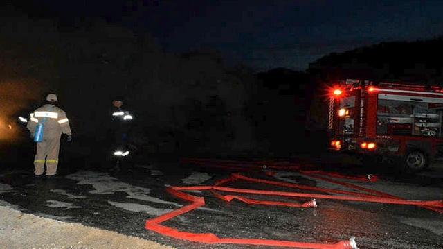 Στις φλόγες τουριστικό λεωφορείο στην περιοχή του Νέου Ρυσίου Θεσσαλονίκης