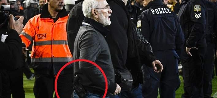 Με περίστροφο εισέβαλε ο Ιβάν Σαββίδης στο γήπεδο! [εικόνες & βίντεο]