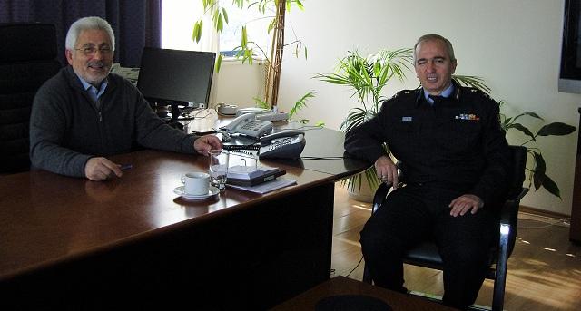 Επίσκεψη του νέου Περιφερειακού Διοικητή Πυροσβεστικής στον Ν. Ντίτορα