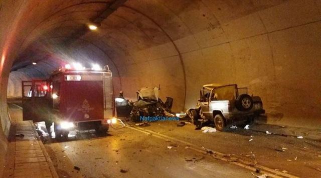 Ένας νεκρός και τέσσερις τραυματίες σε τροχαίο σε σήραγγα στη Ναύπακτο