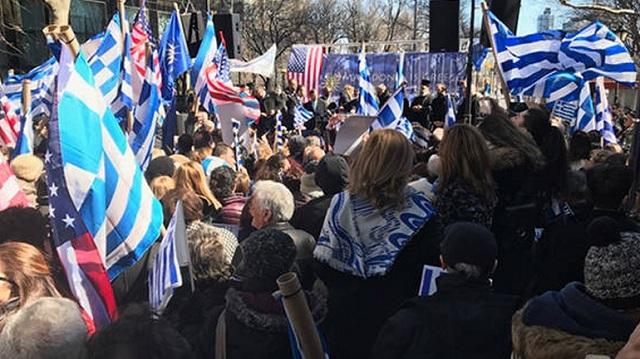Ομογενείς πραγματοποίησαν συλλαλητήριο για τη Μακεδονία στη Ν. Υόρκη