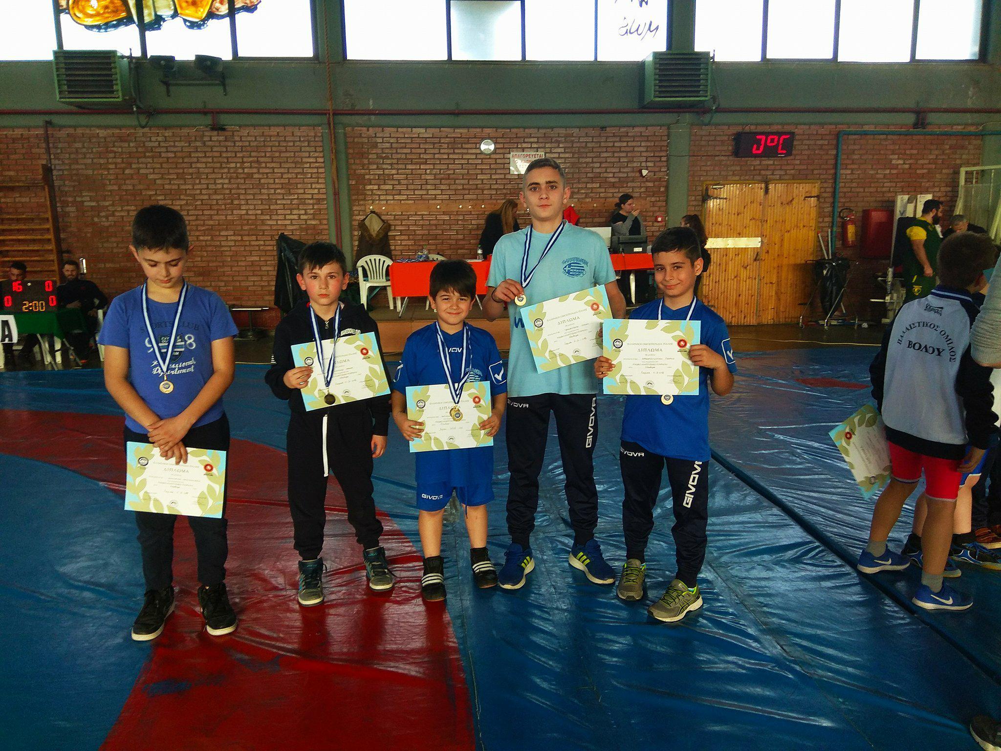 Τέσσερα μετάλλια για τον «Ολυμπιονίκη Βόλου»