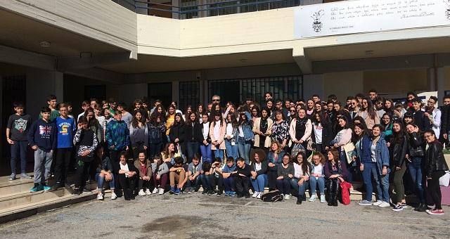 Υποδοχή 46 μαθητών του Παλέρμο στο 6ο Γυμνάσιο Βόλου