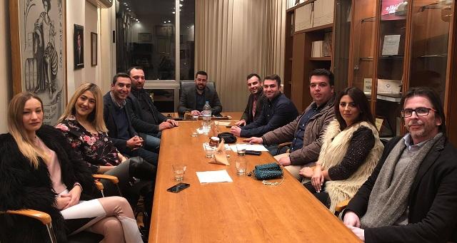 Συνάντηση της ΟΝΝΕΔ Βόλου με τον πρόεδρο του Εμπορικού Συλλόγου