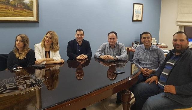 Συνάντηση στελεχών της ΟΝΝΕΔ Βόλου με τον Αρ. Μπασδάνη