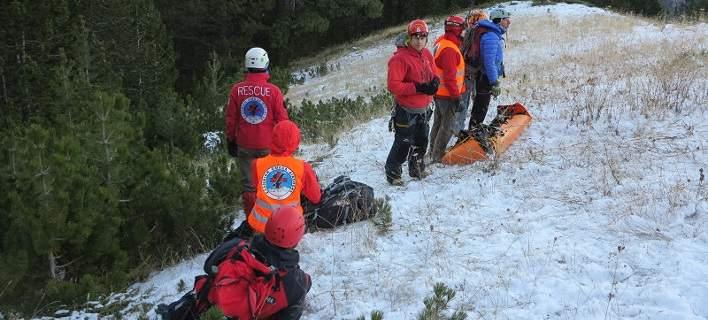 Επιχείρηση διάσωσης τραυματισμένου ορειβάτη στον Ολυμπο [εικόνα]