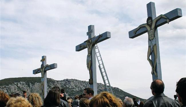 Η Ακολουθία της Αποκαθήλωσης στον Λόφο της Παναγίας Ξενιάς