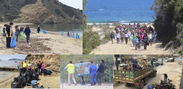 Συγκέντρωσαν 8 τόνους σκουπίδια από τις ακτές της Σκιάθου