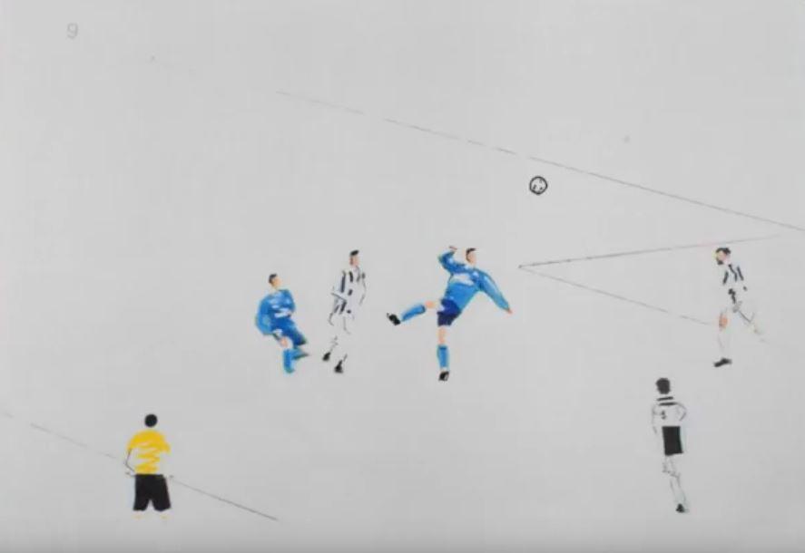 Ο Ρονάλντο «ζωγράφισε» και αυτοί ζωγράφισαν το γκολ [Βίντεο]