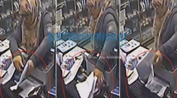 Θρασύτατη κλοπή από κατάστημα στην Καλλιθέα (ΒΙΝΤΕΟ)