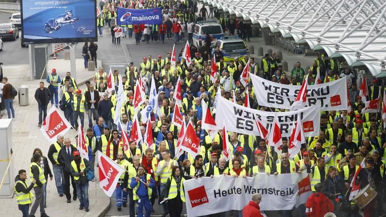 Xάος στα γερμανικά αεροδρόμια από απεργία της Lufthansa